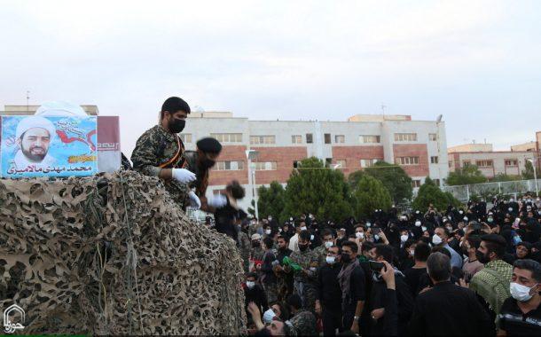 وداع مردم پردیسان با پیکر روحانی شهید مدافع حرم محمدمهدی مالامیری